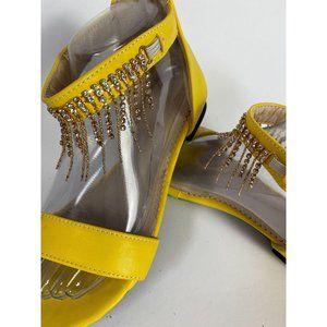 Yellow Bling Sandals sz 38
